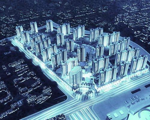 汇东郦城远景鸟瞰图