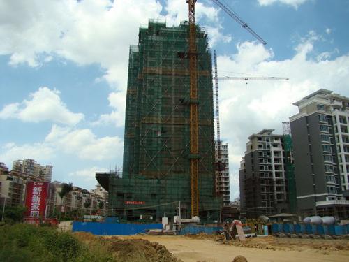 凤岭新新家园1期工程进度图(2010.7)