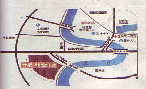 云星钱隆江南区位图
