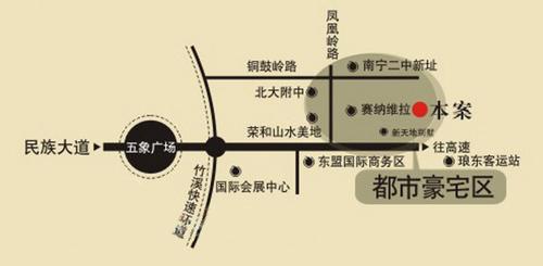 枫林蓝岸交通图