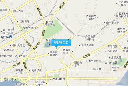 绿都锦江汇交通图