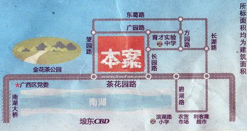昊壮南湖西岸交通图