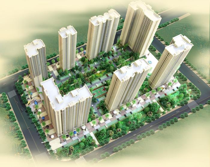 荣凯星城国际鸟瞰图